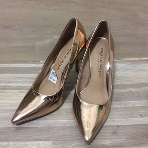 Christian Siriano Gold Pointed Heel